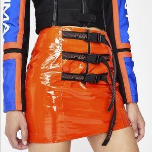 Puma fenty Rihanna orange belted mini skirt